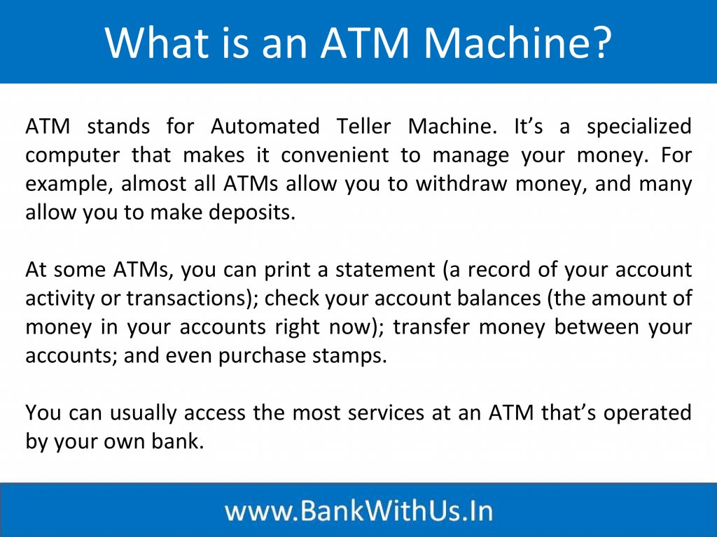 What is an ATM Machine?