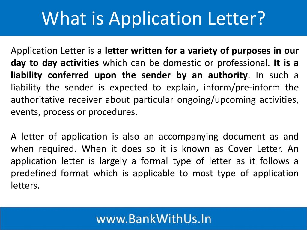 What is Application Letter?