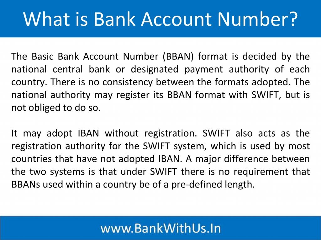 What is Bank Account Number?
