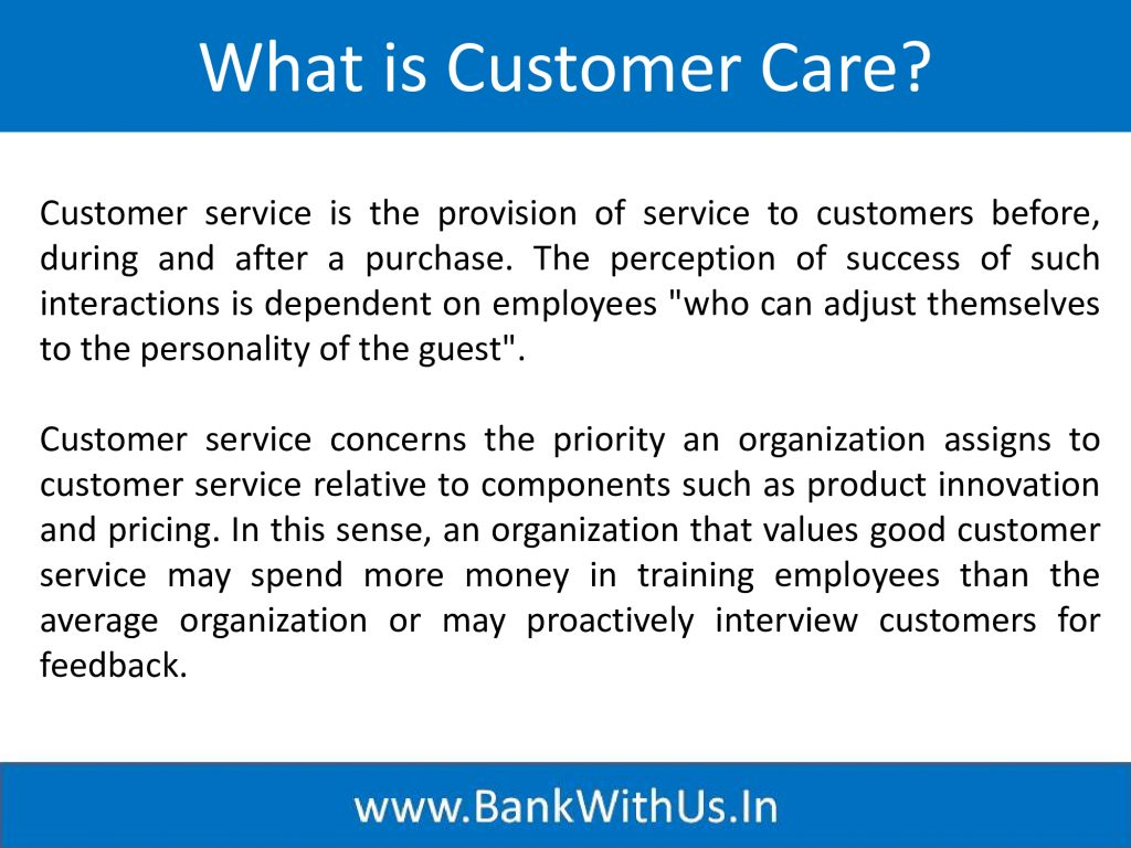 What is Customer Care?