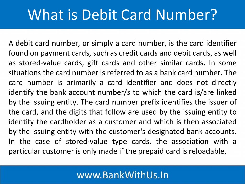 What is Debit Card Number?