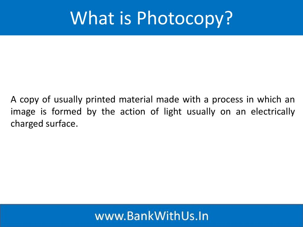 What is Photocopy?