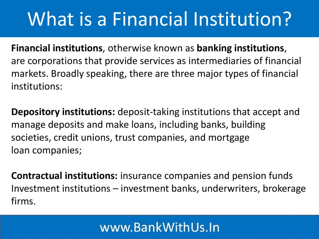 What is a Financial Institution?