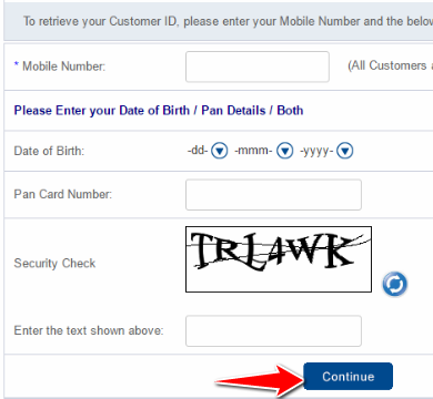Enter the details and click on Continue