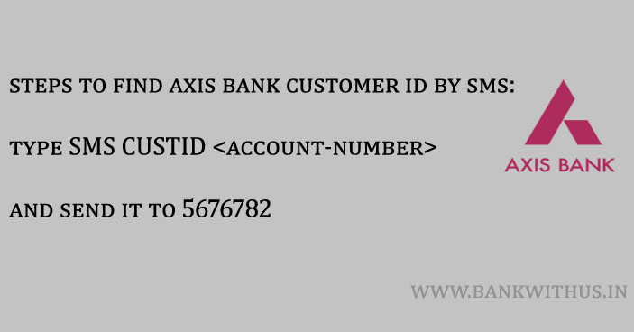 Steps to Find Axis Bank Customer ID by SMS