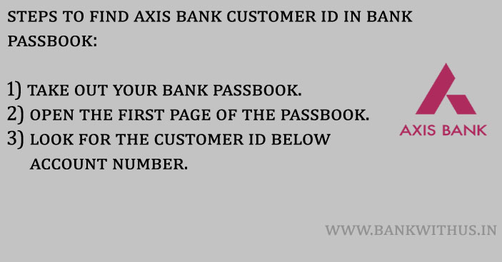 Steps to Find Axis Bank Customer ID in Bank Passbook