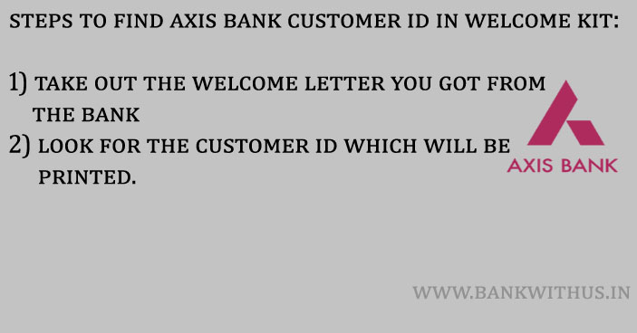 Steps to Find Axis Bank Customer ID in Welcome Kit