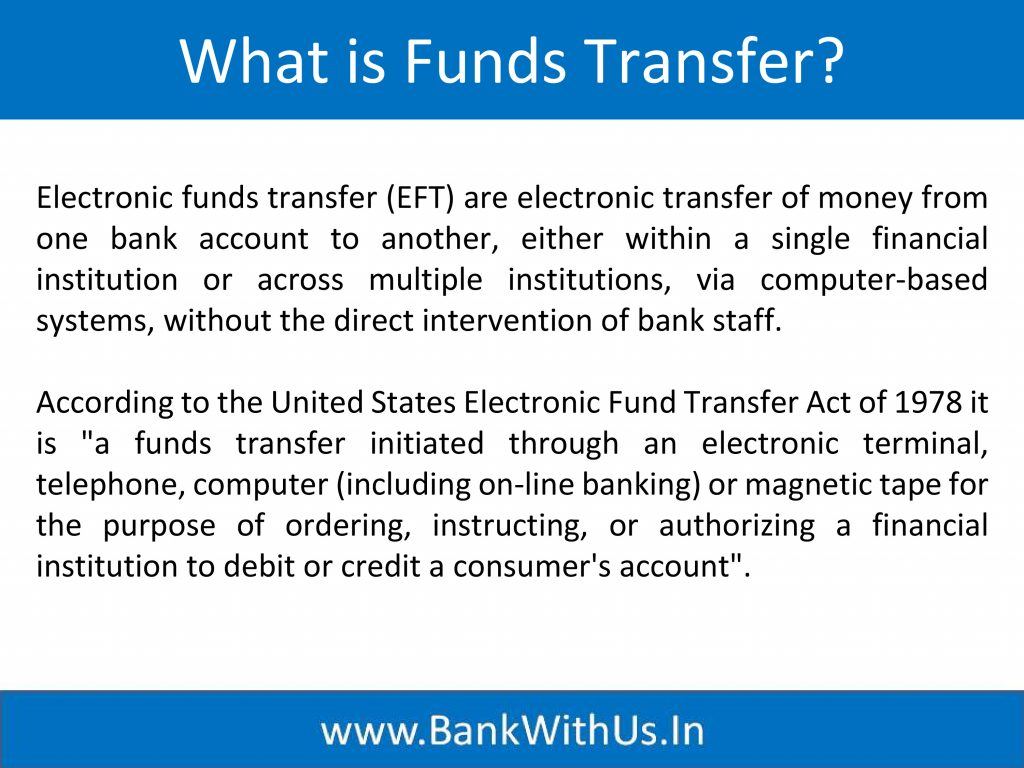 What is Funds Transfer?