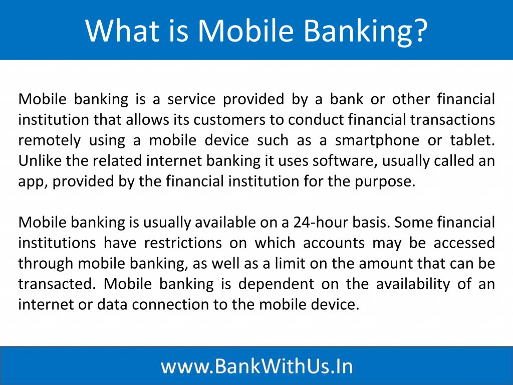 What is Mobile Banking?