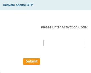 Enter the Activation OTP