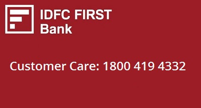 IDFC First Bank Customer Care