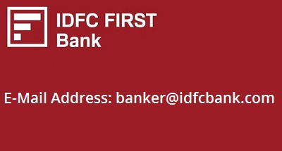 IDFC First Bank E-Mail Address