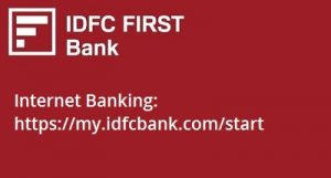 IDFC First Bank Internet Banking