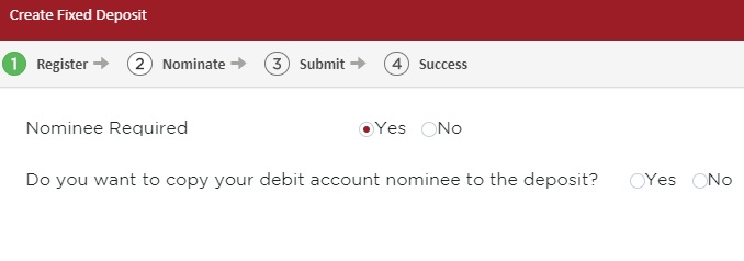 Enter your Fixed Deposit Nominee Details