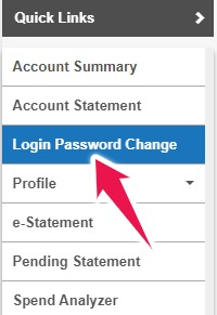 Click on Change Login Password