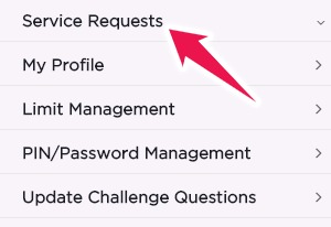 Click on Service Requests