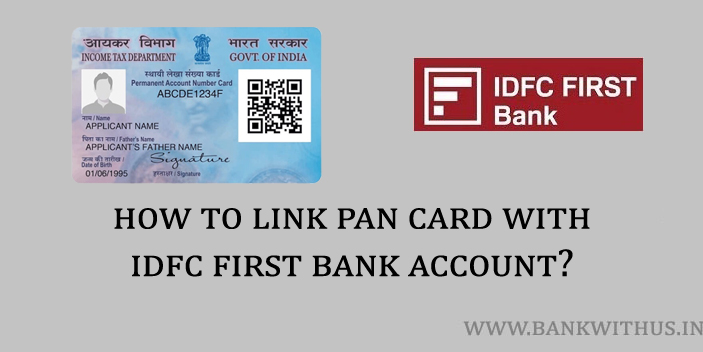 Link PAN Card with IDFC First Bank Account