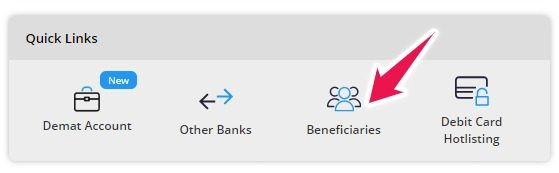 Click on Beneficiaries Link