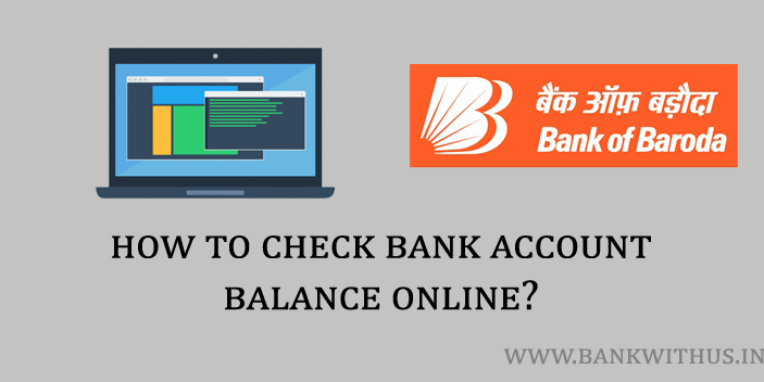A Laptop with Bank of Baroda Internet Banking Website to Check the Account Balance