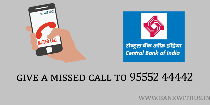 Central Bank of India Missed Call Number to Check Balance