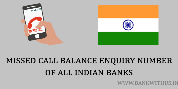 Missed Call Balance Checking Number of All Indian Banks