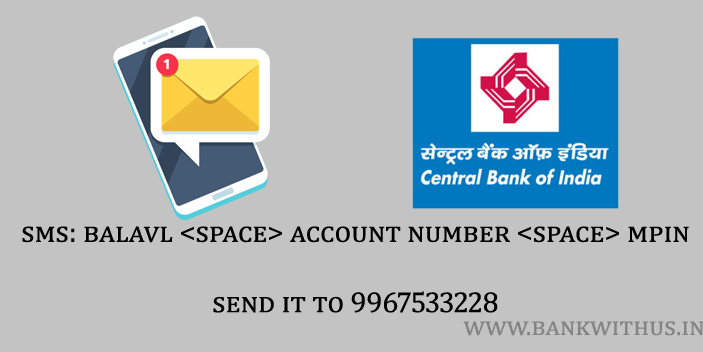 SMS to Check Central Bank of India Account Balance