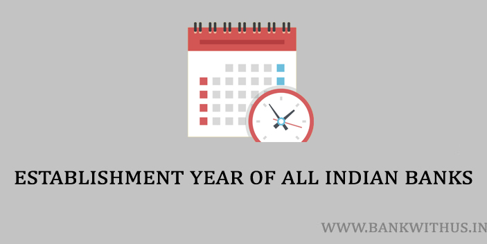 Establishment Year of All Indian Banks