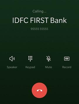 Make a Call to 9555555555
