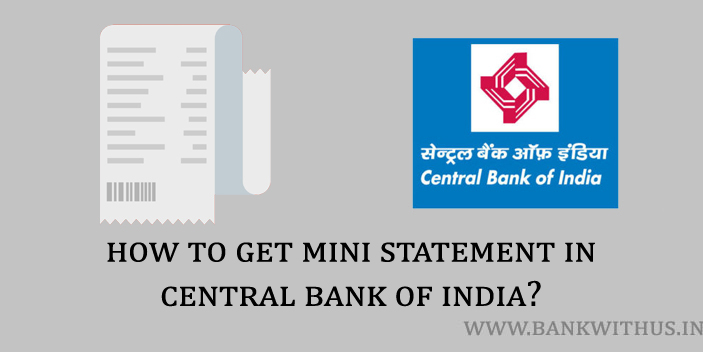 Central Bank of India Mini Statement