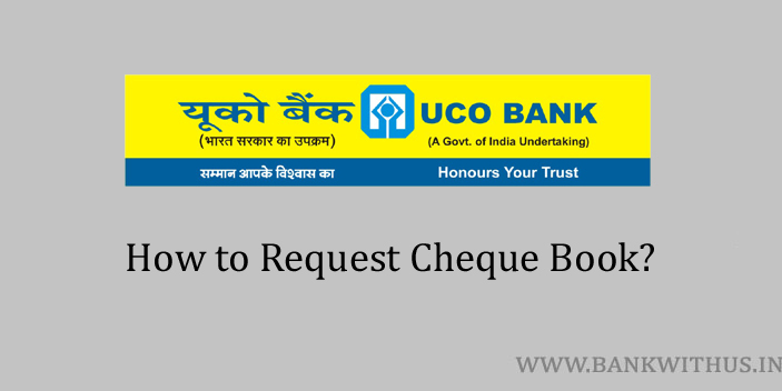 Request Cheque Book in UCO Bank