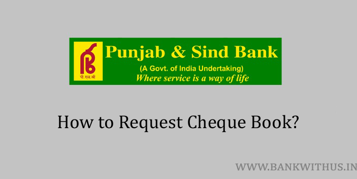 Request Cheque Book in Punjab and Sind Bank