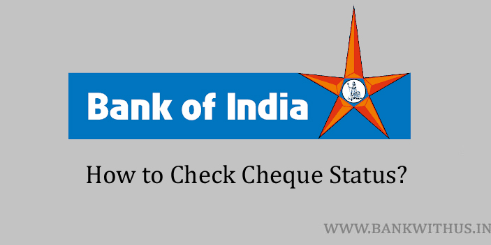 Bank of India Cheque Status