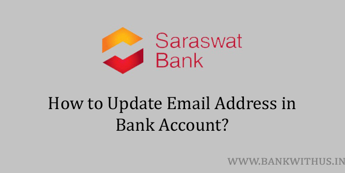 Update Email Address in Saraswat Bank Account