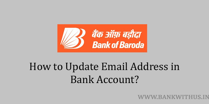 Update Email Address in Bank of Baroda